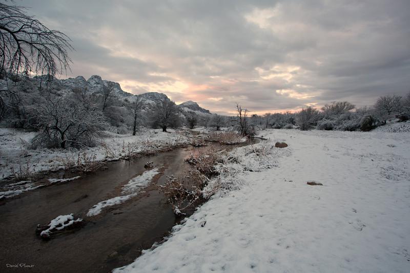 Desert Snow At Dawn