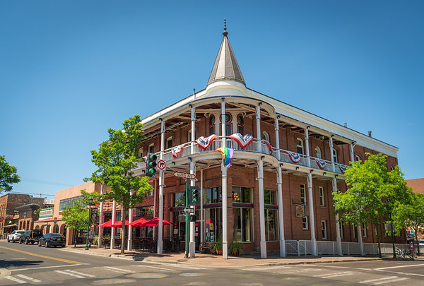 The Weatherford Hotel on Historic Aspen Ave in Flagstaff, AZ