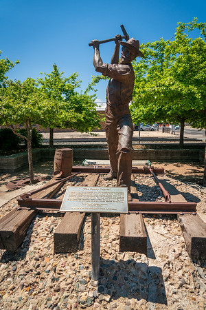 Monument at Trainstation in Flagstaff, AZ