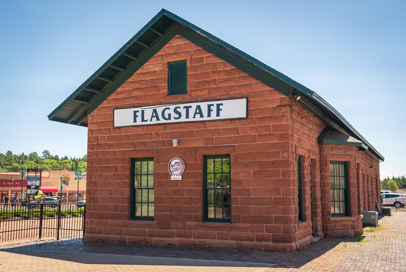 Train Station at Flagstaff, AZ