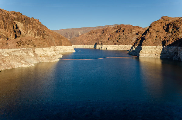 The Blue water of Hoover Dam