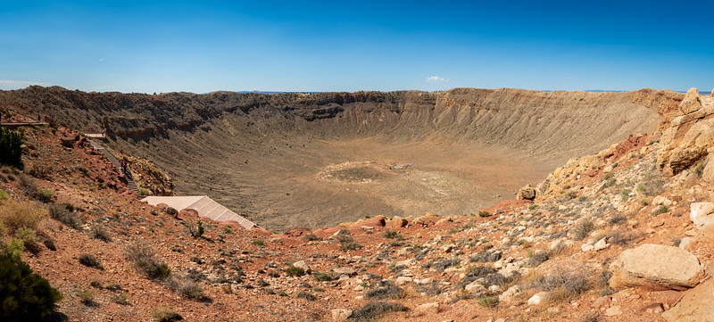 Panaramic View of the Impact Site at Meteor Crater