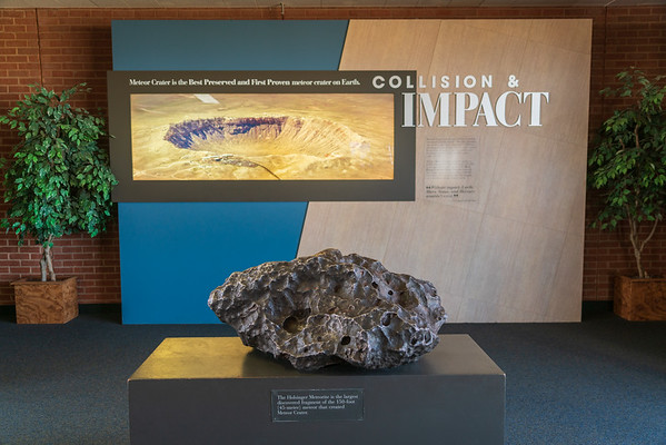 Meteor fragment at Meteor Crater