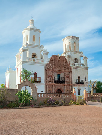 Up Close View of Mission San Xavier del Bac