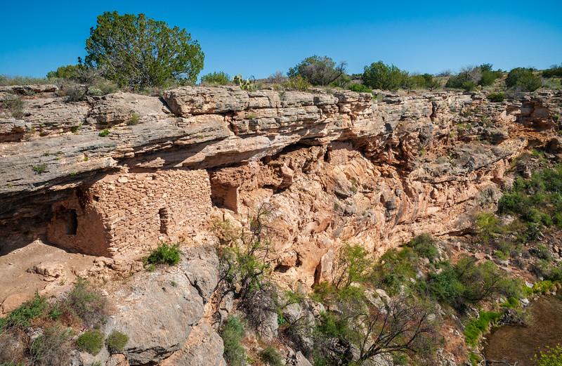 Cliff Dwellings at the Montezuma Well unit of Montezuma Castle National Monument