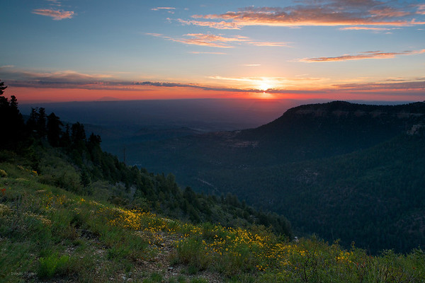 East Rim At Sunrise