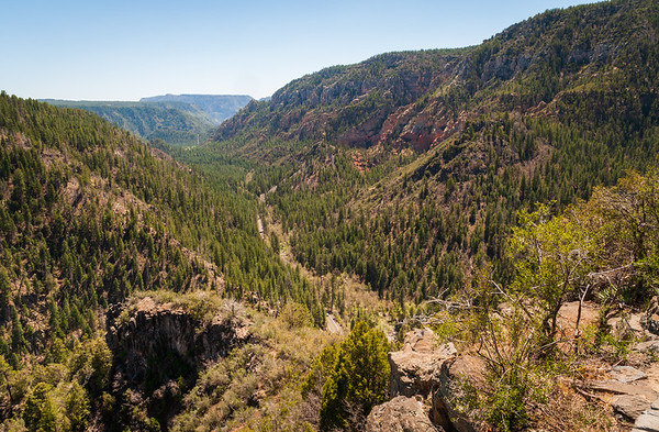 View of the Valley at Oak Creek Canyon