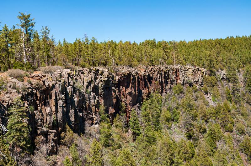 A Stone Cliff at Oak Creek Canyon