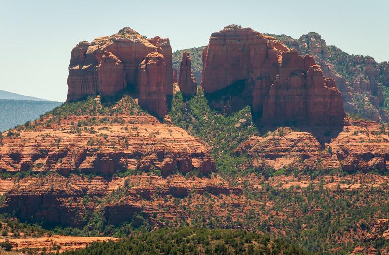 Hazing Morning View of the Rugged Landscape of Sedona, Arizona