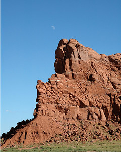 Rock and skyscape on the road between Kayenta and Chinle. One of my favorite drives.