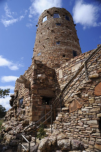 The Desert View watchtower at the Grand Canyon. September.