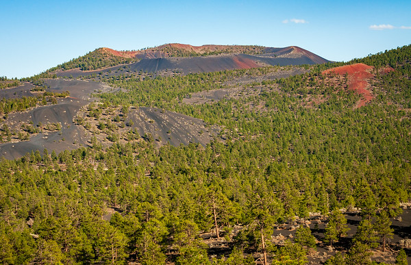 Red, Black, and Green at Sunset Crater National Monument