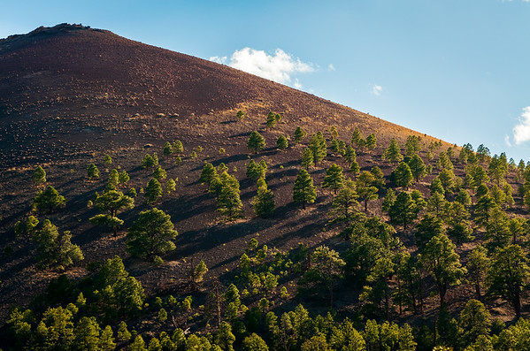 Lighted Hill at Sunset Crater National Monument