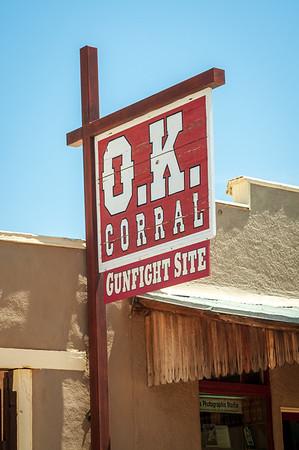 O.K. Carral Gunfight Sign, Tombstone, Arizona