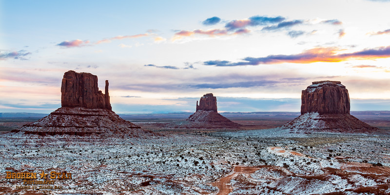 Snowy Sunrise @ Monument Valley, AZ