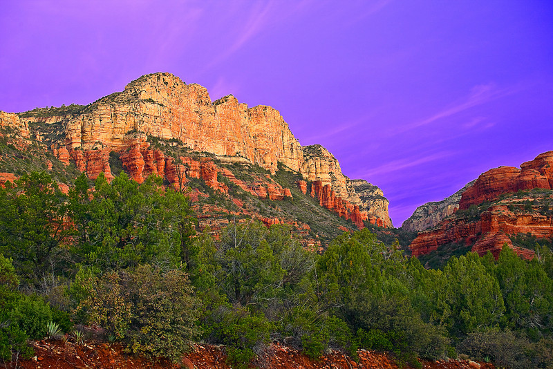 Arizona, Sedona, Red Rock country, Boynton Canyon, Sunrise, Landscape, 亚利桑那, 红岩 沙漠, 风景