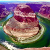 "Horseshoe Bend of the Colorado River near Page, Arizona<br /> It's an 800 foot drop from the clif where I'm standing to the water... and if the wind is blowing...<br /> <br /> Look at the image in google maps from my home page. The water goes all the way around and doesn't connect.<br />  <a href=""http://maps.smugmug.com/?feedType=geoUser&Data=JonBerryPhoto&Latitude=36.272&Longitude=-111.968&zoom=6"">http://maps.smugmug.com/?feedType=geoUser&Data=JonBerryPhoto&Latitude=36.272&Longitude=-111.968&zoom=6</a><br /> <br /> From about 50 yards away the desert looks perfectly flat and you wouldn't know this was even there - it's that flat!"