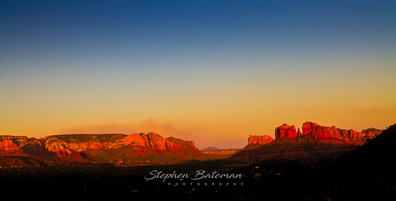 Sedona red rocks at Sunset