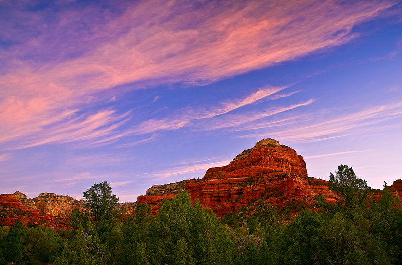 Arizona, Sedona, Red Rock country, Boynton Canyon, Sunrise Landscape, 亚利桑那, 红岩 沙漠, 风景