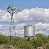 Windmill and water storage tank at Empire Ranch