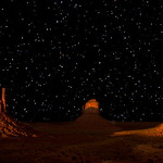 Stary Night at Monument Valley.<br /> <br /> On my way to Arches National Park from Antelope canyons, we stopped at Monument valley. I got some nice light at sunset but plain skies were killing it so i decided to wait for night and night shots from visitor center. I left my stuff and waited in visitor center for 4 hours till it was pitch dark.. I knew clear skies and no light pollution will guarantee skies full of stars but didn't know I'll be rewarded with so many stars :)<br /> <br /> Photo Details:<br /> One shot for foreground taken at sunset and Sky shot at night around 4 hours later. Minor level's adjustment in night shot and hand blended with sunset shot in photoshot.<br /> <br /> Please share and enjoy!!