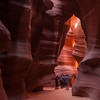 You must be on a tour to enter the upper slot Canyons.  Their were only two people on the tour I was on..it was a photographic tour and we were allowed to bring tripods.  The group I photographic here, for perspective, were just on a regular tour..non of them had tripods.