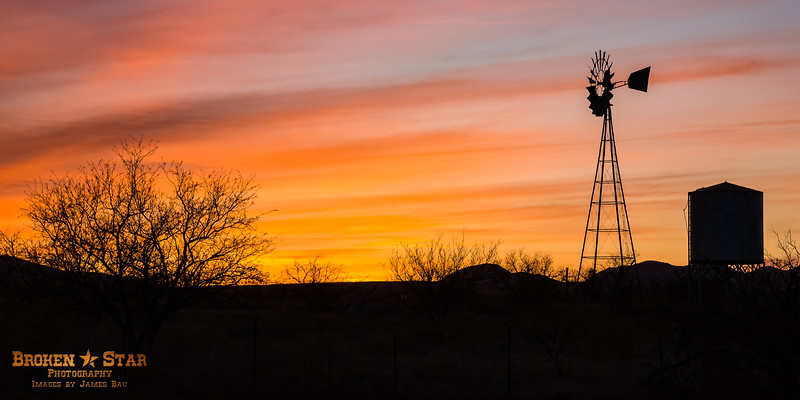 Sunset at Las Cienegas National Conservation Area