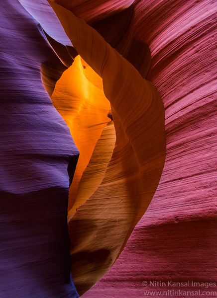 Lower Antelope Canyon Colorful Glow
