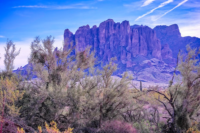 Superstition Mountains in Winter
