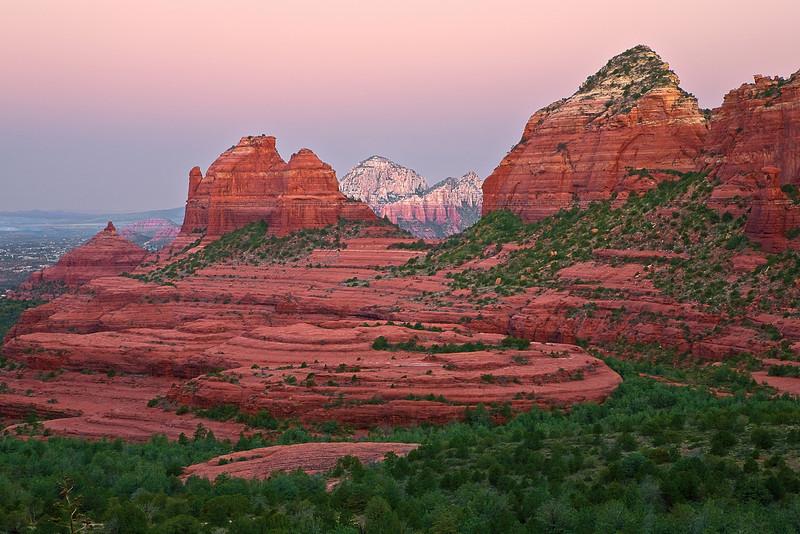 Arizona, Sedona, Red Rock Country, Schnebly Canyon, Sunrise Landscape, 亚利桑那, 红岩 沙漠, 风景