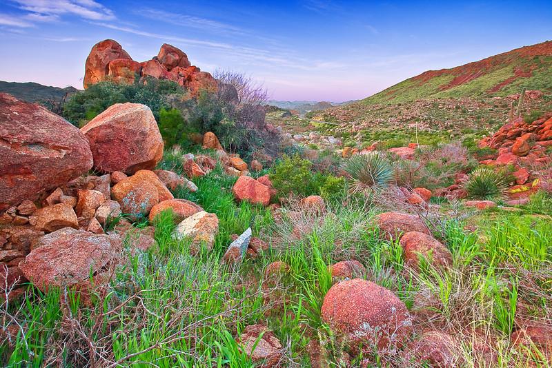 Arizona, Mazatzal Wilderness, Sunrise Landscape,亚利桑那 沙漠, 风景