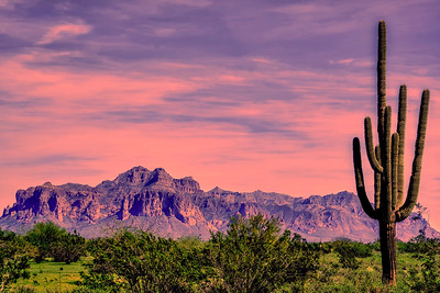 Dusk Over the Superstitions