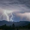 Monsoon Storm Over Granite Mountain