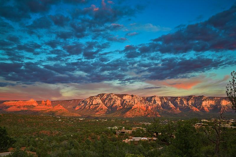Arizona, Sedona, Red Rock Country, Sunset Landscape, 亚利桑那, 红岩 沙漠, 风景
