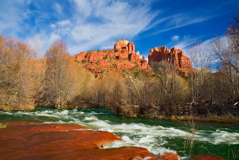 Arizona, Sedona, Red Rock Country, Cathedral Rock Landscape, 亚利桑那, 红岩 沙漠, 风景