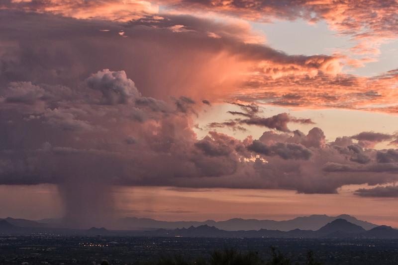 Storm moving over Tucson, AZ