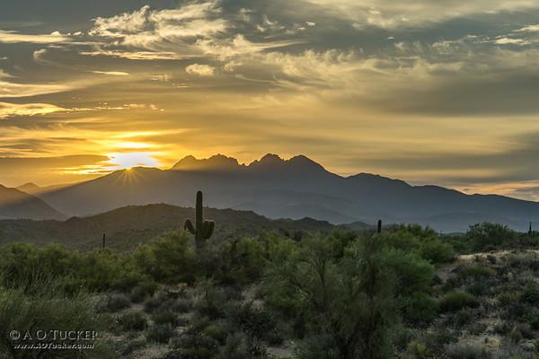 Morning Breaks Over Four Peaks