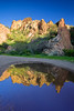 Arizona, Superstiton Wilderness, Reflection Landscape,亚利桑那 沙漠, 风景