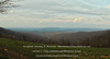 """Early springtime sunset - Cannon Creek Valley from Brannon Mountain Road. <br /> <br /> """"As the crow flies,"""" this view is almost exactly due west of Crosses, AR.  The small white pip about a third of the way across from the left-hand side of the image is the Mount Olive Water District tower near AR Highway 16, approximately 1 mile east of the Madison / Washington County line.<br /> <br /> Digital composite panorama, reconstructed from 10 individual images."""