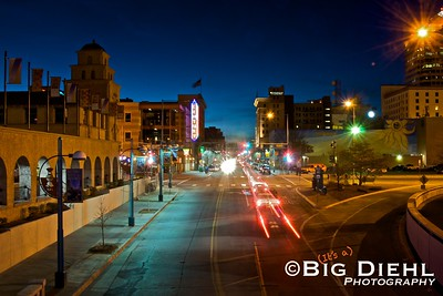 Central Avenue & 1st.  Central Avenue, is seen heading westward towards Arizona, as this was once the famed Route 66.