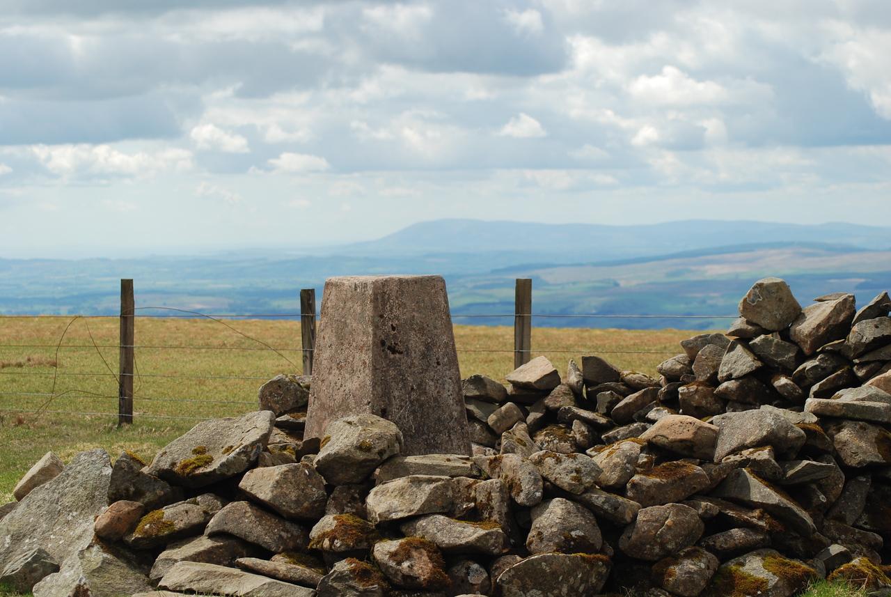 Hartfell summit cairn.