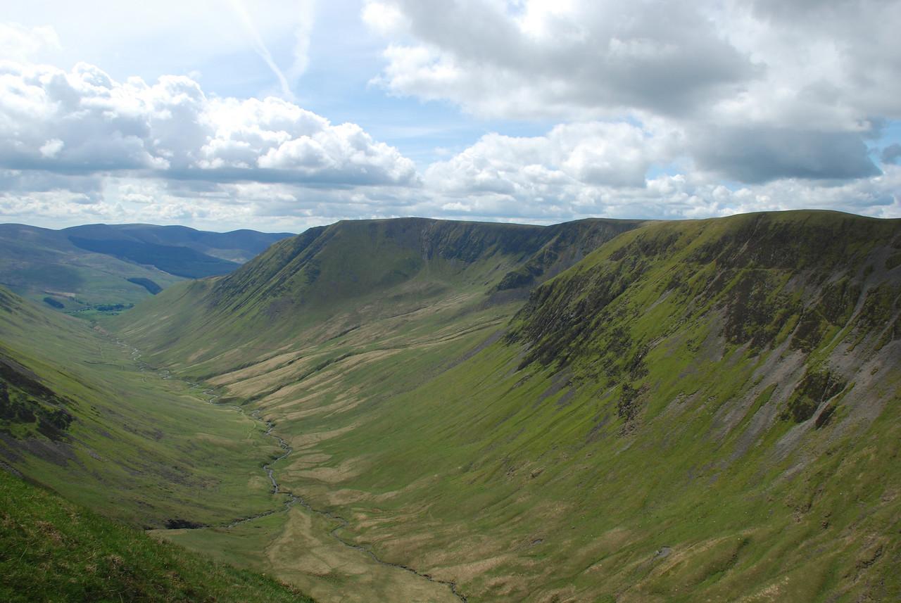 Blackhope valley near Saddle Yoke.