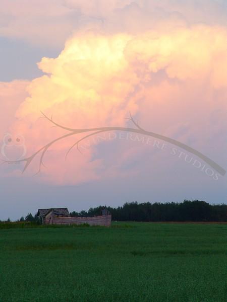 Thunderheads at dusk, near my home