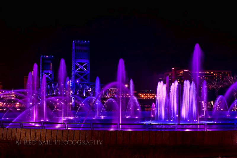 Friendship Fountain 4.. Downtown Jacksonville, FL.