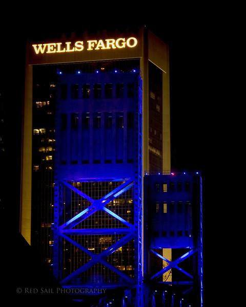 Main Street Bridge and Wells Fargo Building.. Jacksonville, FL.