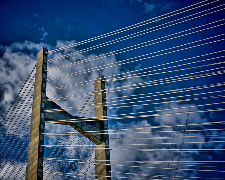 """""""Confusion""""  This tower is part of the Dames Point Bridge in Jacksonville, Florida."""