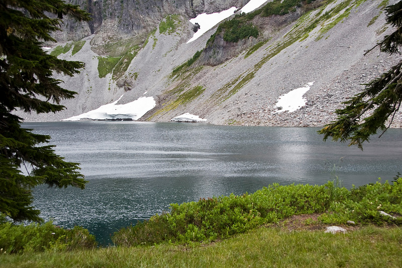 Chain Lakes <br /> even in the beginning of September, there are still snowfields up there