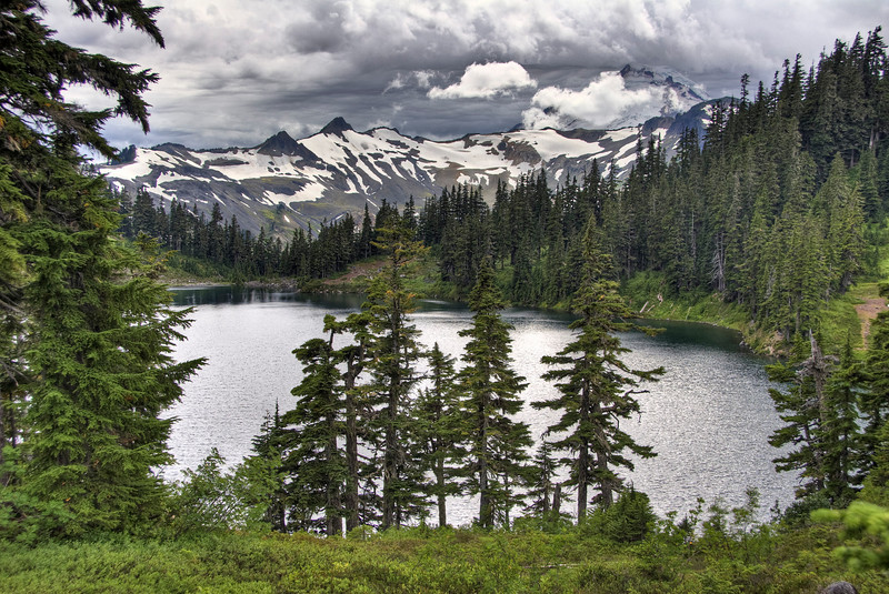 Chain Lakes toward Mount Baker <br /> another tonemapped one