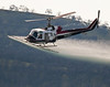 Helicopter spraying orchards, Yuba county