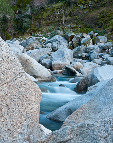 Cascades and rocks, South Yuba